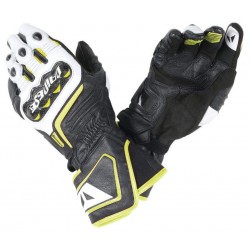 Dainese Carbon D1 Long Gloves Black / White / Fluo Yellow Guanti