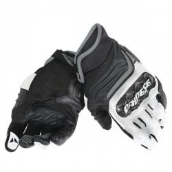 dainese carbon D1 short black / black / rosso fluo guanti