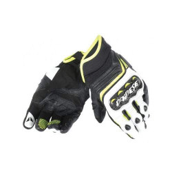 dainese carbon D1 black / white / fluo yellow guanti
