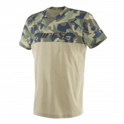 dainese camo-tracks bianco / antracite t-shirt