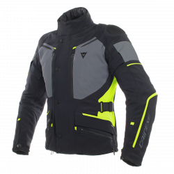 Dainese carve master 2 gore - tex nero frost / grigio / rosso lather jacket