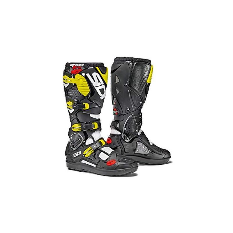 SIDI Crossfire 3 SRS bianco/nero/giallo fluo