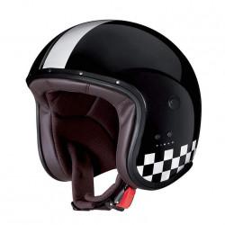 Caberg jet freeride indy nero/bianco casco