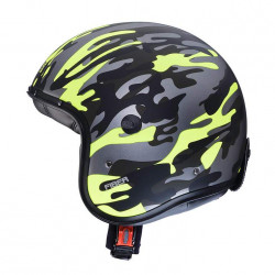 Caberg jet freeride commander green/yellow fluo casco