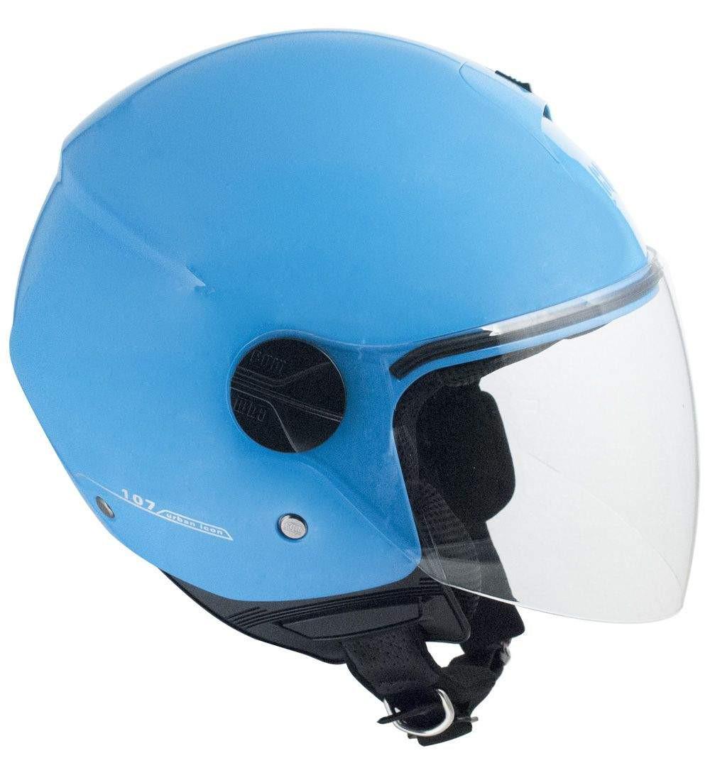 1b94d539fdade cgm 107A florence azzurro casco - Moto Charlie