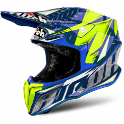 Airoh twist gloss blue iron casco offroad