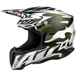 Airoh twist mimetic white/black casco offroad