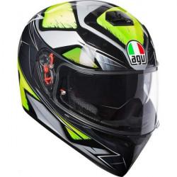 agv k3 sv liqufy grey/yellow fluo top pinlock replica casco