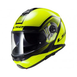 LS2 civik ff325 Hi-Vis yellow/black casco apribile