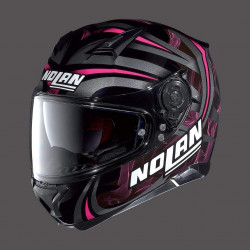 Nolan N87 led light N-Com glossy black casco integrale
