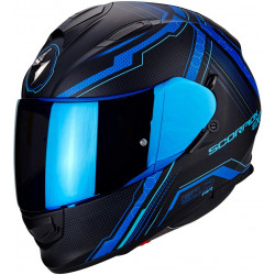 scorpion EXO-510 AIR sync 3BL opaco nero/blu casco