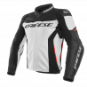 Dainese racing 3 bianco/nero/rosso giacca pelle