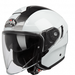 Airoh hunter simple white gloss casco