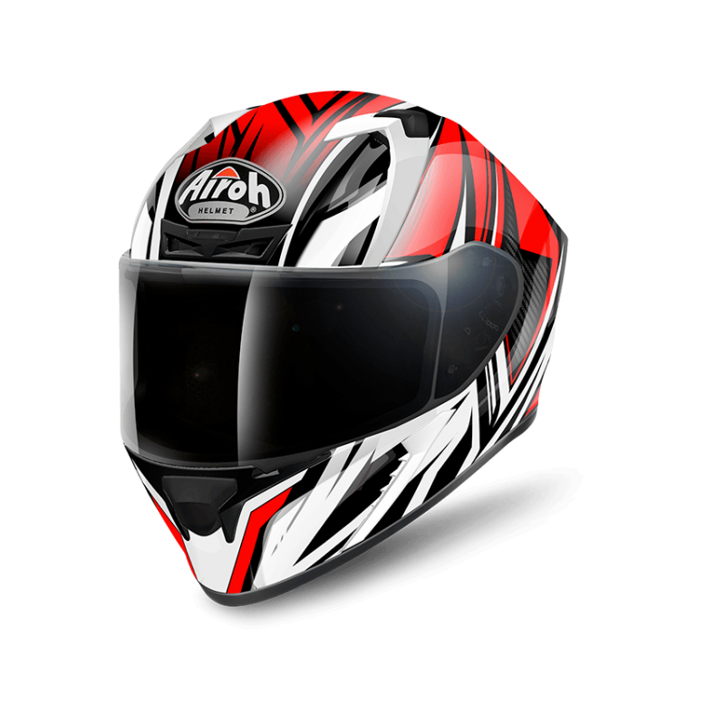 Airoh valor conquer red gloss casco