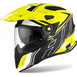 AIROH COMMANDER DUO YELLOW MATT CASCO OFFROAD