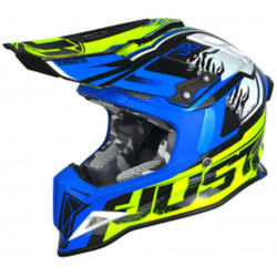 CASCO OFFROAD J12 DOMINATOR NEON YELLOW - BLUE | JUST1
