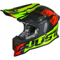 CASCO OFFROAD J12 DOMINATOR NEON LIME - RED | JUST1