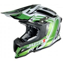CASCO OFFROAD J12 FLAME GREEN/WHITE | JUST1