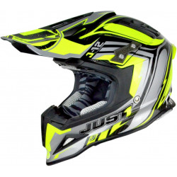 CASCO OFFROAD J12 FLAME YELLOW/BLACK | JUST1