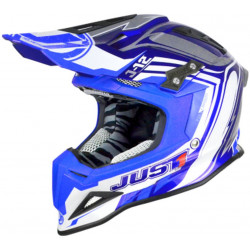 CASCO OFFROAD J12 FLAME BLUE | JUST1