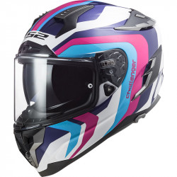 CASCO FF327 CHALLENGER GALACTIC G.WHITE BLUE PINK | LS2