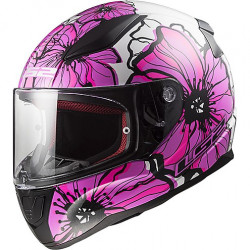 CASCO FF353 RAPID POPPIES WHITE PINK | LS2