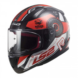 CASCO FF353 RAPID STRATUS GLOSS BLACK RED SILVER | LS2