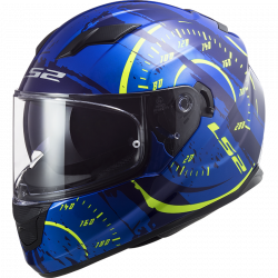 CASCO FF320 STREAM EVO TACHO GL.BLUE H-V YELLOW | LS2