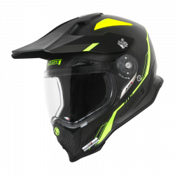 CASCO J14 LINE FLUO YELLOW CARBON LOOK | JUST1