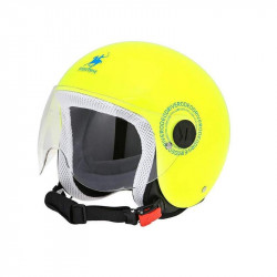 rodeo RD109 giallo fluo / blu kid casco jet bambino