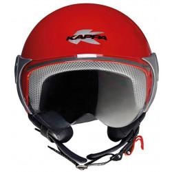 kappa j.03 rosso fluo casco jet bambino