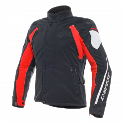 dainese rain master lady d-dry nero / bianco / rosso giacca impermeabile