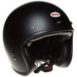 Bell custom 500 solid matte black casco jet