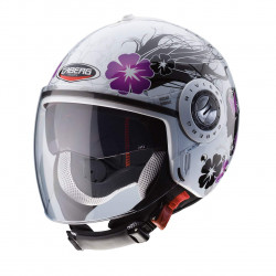 Caberg jet riviera V3 diva white/silver casco