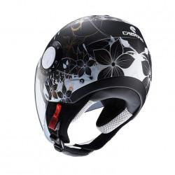 Caberg jet riviera V3 floral matt black/white/gold casco