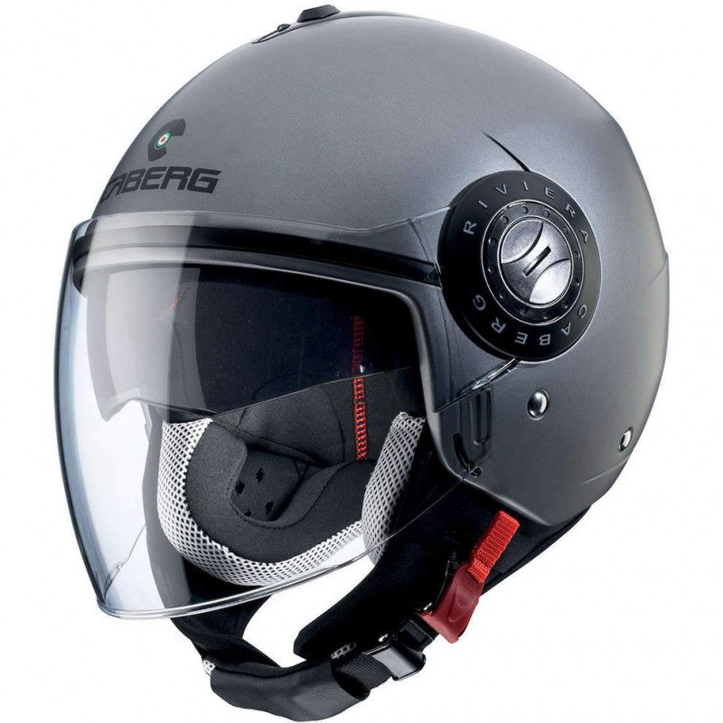Caberg jet riviera V3 matt blue denim casco