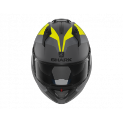shark evo one 2 slasher antracite / giallo fluo casco
