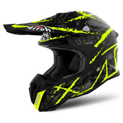 Airoh Terminator open visor carnage yellow casco cross