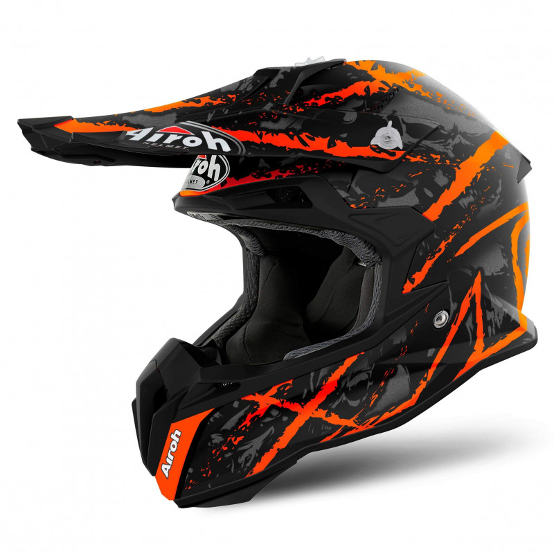 Airoh Terminator open visor shock blue casco cross