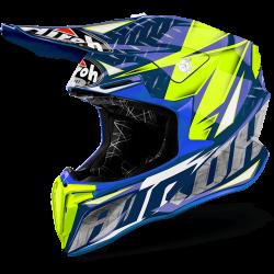 Airoh twist gloss blue iron casco offroad