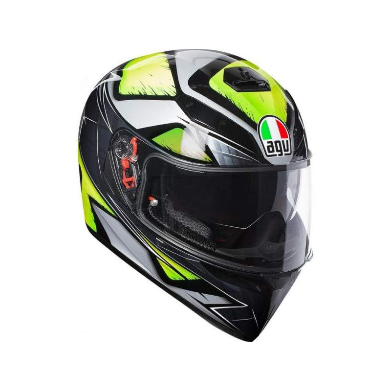 agv k3 sv liqufy grey/yellow fluo top pinlock replica casco
