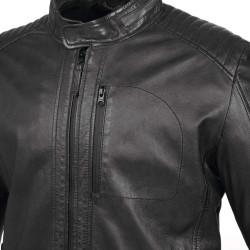 tucano urbano pel nero giacca in pelle