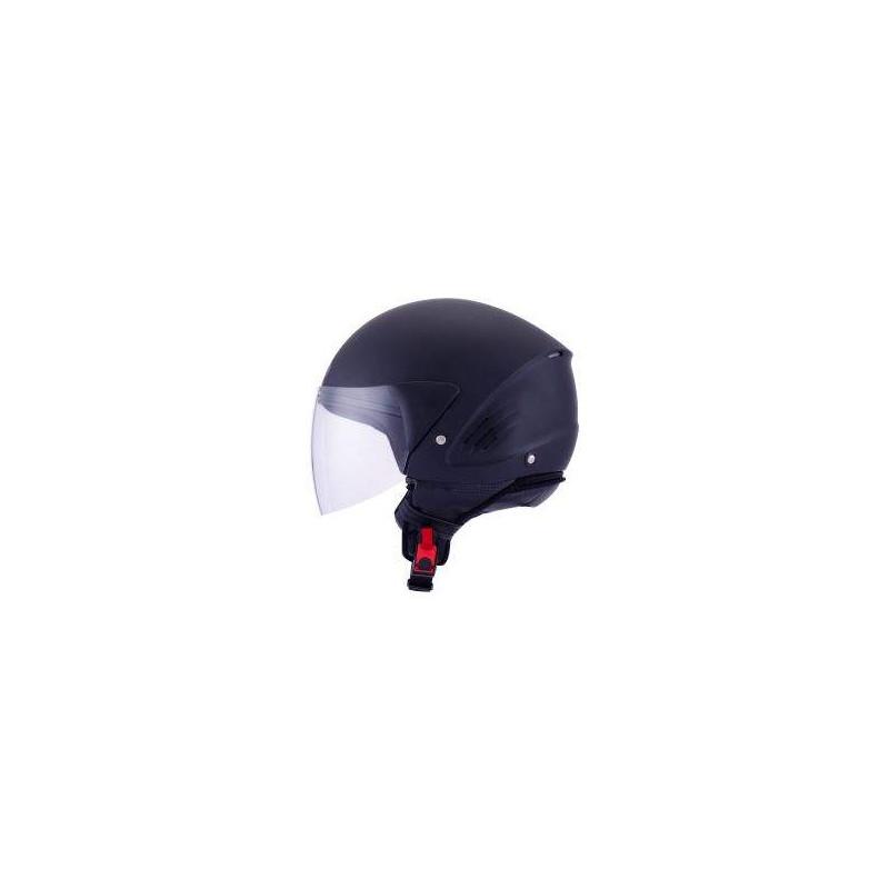 kyt coguar plain white casco demi jet