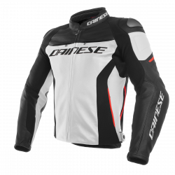 Dainese racing 3 rosso nero / bianco giacca pelle