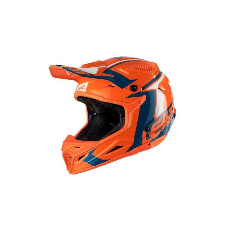 leatt GPX 4.5 V20 orange/denim casco offroad