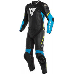 dainese laguna seca 4 divisiibile black/fire blue/yellow fluo tuta divisibile in pelle