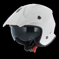 Astone minicross bianco lucido casco