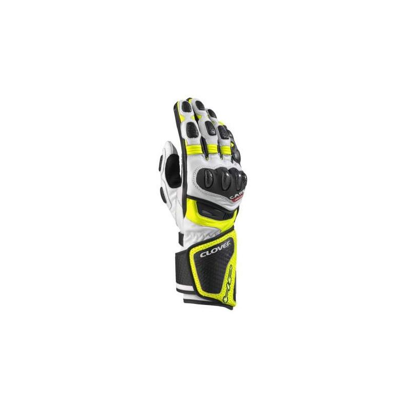 Clover RS8-Kangaroo bianco/giallo guanti