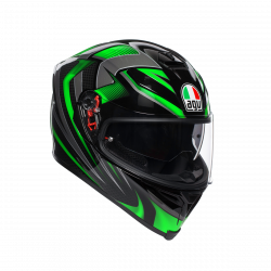 agv k-5 S multi hurricane 2.0 black/red casco