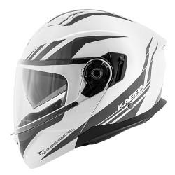 Kappa Kv-31 arizona bianco lucido/titanio casco modulare
